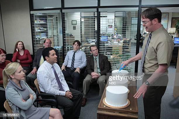 THE OFFICE Finale Episode 924/925 Pictured Kate Flannery as Meredith Palmer Catherine Tate as Nellie Bertram Angela Kinsey as Angela Martin Oscar...