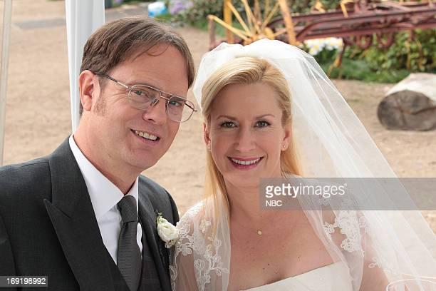 THE OFFICE Finale Episode 924/925 Pictured Rainn Wilson as Dwight Schrute Angela Kinsey as Angela Martin