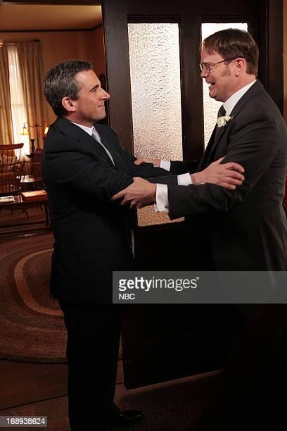 THE OFFICE Finale Episode 924/925 Pictured Steve Carell as Michael Scott Rainn Wilson as Dwight Schrute Photo by