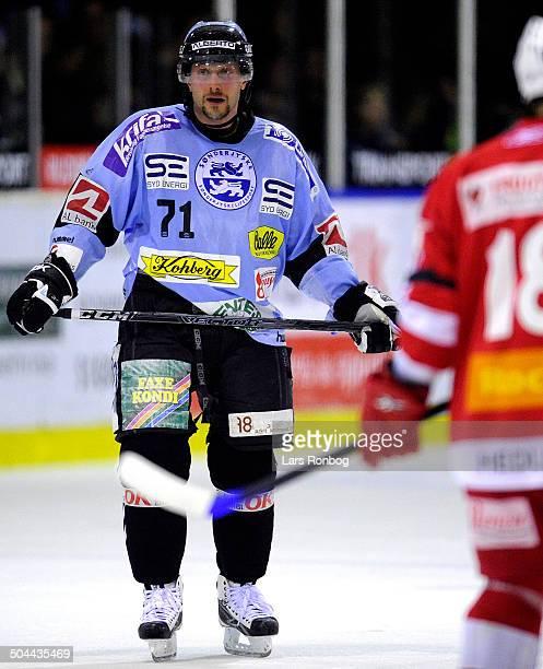 Finale Icehockey - Aleksandrs Macijevskis, Sønderjyske Ishockey. © Lars Rønbøg / Frontzonesport