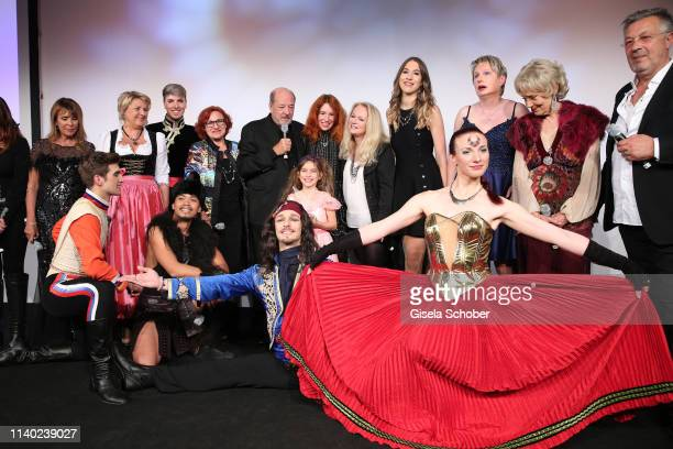Finale Ireen Sheer Angela Wiedl Lou Hoffen Ralph Siegel and his wife Laura Siegel daughter Ruby Vivian Nicole Seibert Alana Siegel Corinna May during...
