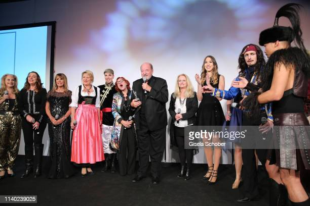 Finale Ireen Sheer Angela Wiedl Lou Hoffen Ralph Siegel Nicole Seibert Alana Siegel Corinna May during the 7th Fashion Charity Dinner and the Best of...