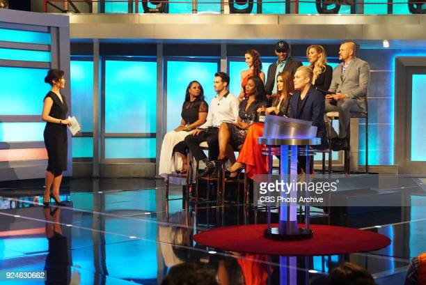 EDITION Finale of the firstever celebrity edition of BIG BROTHER in the US Sunday Feb 25 on the CBS Television Network Host Julie Chen with the jury...