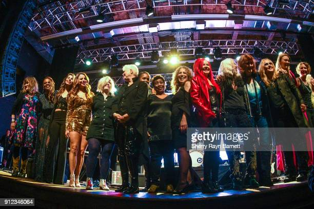 Finale onstage at 2018 NAMM She Rocks Awards held at The Anaheim House Of Blues on January 26 2018 in Anaheim CA