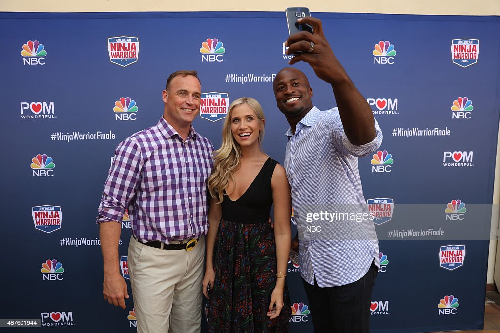 WARRIOR -- 'Finale Screening' -- Pictured: (l-r) Matt Iseman, Kristine Leahy, Akbar Gbajabiamila at the Gene Autry Museum in Los Angeles, Calif., September 9, 2015 --