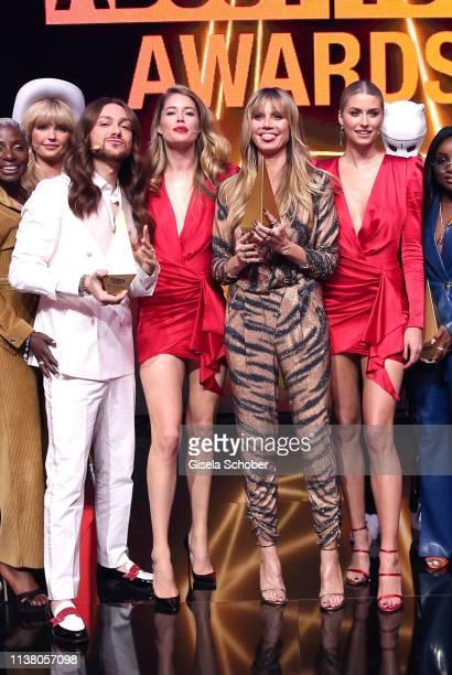 FinalelBonnie Strange Riccardo Simonetti Doutzen Kroes Heidi Klum Lena Gercke Cro during the 3rd ABOUT YOU Awards at Bavaria Studios on April 18 2019...