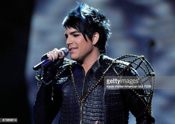 Finalist Adam Lambert performs onstage during the American Idol Season 8 Grand Finale held at Nokia Theatre L.A. Live on May 20, 2009 in Los Angeles,...