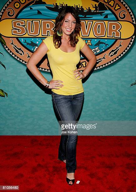 Finalist Amanda Kimmel arrives at the Survivor Micronesia Fans vs Favorites Finale at the Ed Sullivan Theatre on May 11 2008 in New York CIty