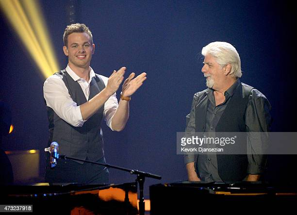 Finalist Clark Beckham and singer Michael McDonald perform onstage during American Idol XIV Grand Finale at Dolby Theatre on May 13 2015 in Hollywood...