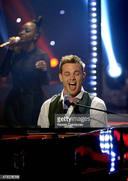 """Finalist Clark Beckham performs onstage during """"American Idol"""" XIV Grand Finale at Dolby Theatre on May 13, 2015 in Hollywood, California."""