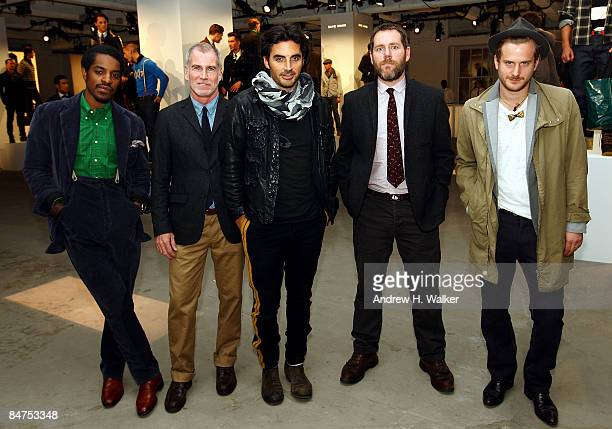 Finalist designers Andre Benjamin David Mullen Yigal Azrouel Alex Carleton and Robert Geller attend the GQ CFDA 2009 Best New Menswear Designers...