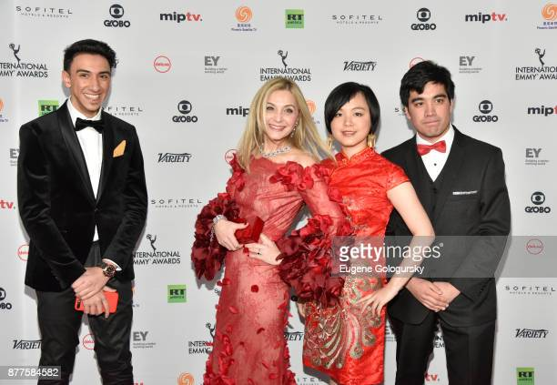 Finalist Eisa Alhabib Michal Grayevsky President JCS International finalists Ewing Luo and Roberto Pino Almeyda attend International Emmy Awards Red...