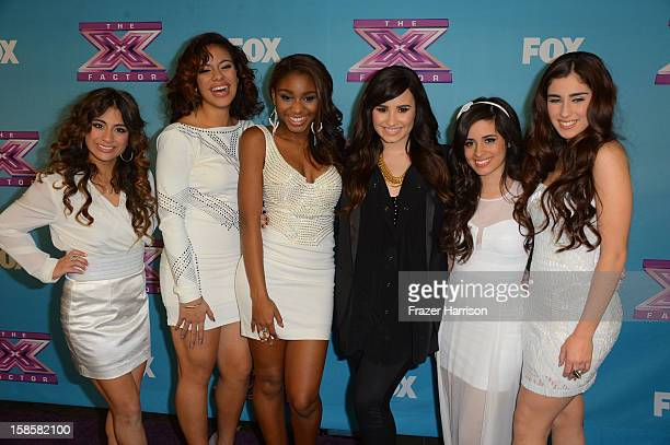 Finalist Fifth Harmony arrive at Fox's 'The X Factor' Season Finale Night 1 at CBS Television City on December 19 2012 in Los Angeles California