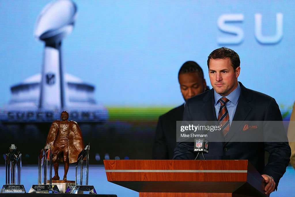 Finalist for the Walter Payton Man of the Year award, Jason Witten of the Dallas Cowboys speaks during a press conference for Super Bowl XLVII at the Ernest N. Morial Convention Center on February 1, 2013 in New Orleans, Louisiana.