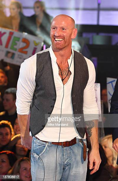 Finalist Gareth Thomas is evicted from Celebrity Big Brother 2012 at Elstree Studios on January 27 2012 in Borehamwood England