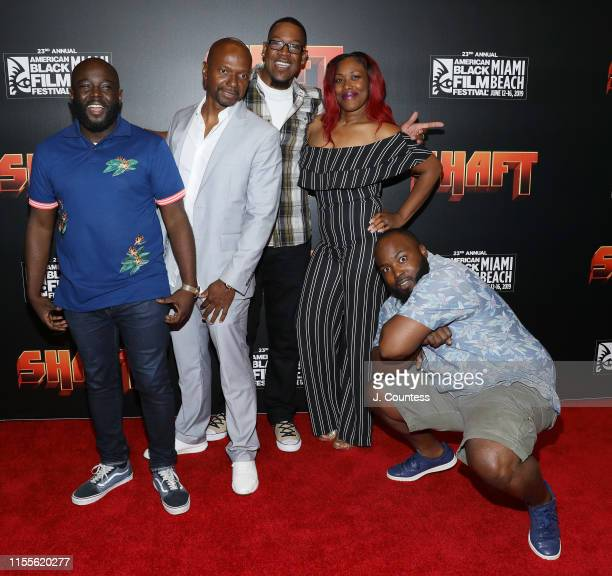 Finalist in the Comedy Wings competition attend the premiere of Shaft during the 23rd Annual American Black Film Festival on June 12 2019 in Miami...