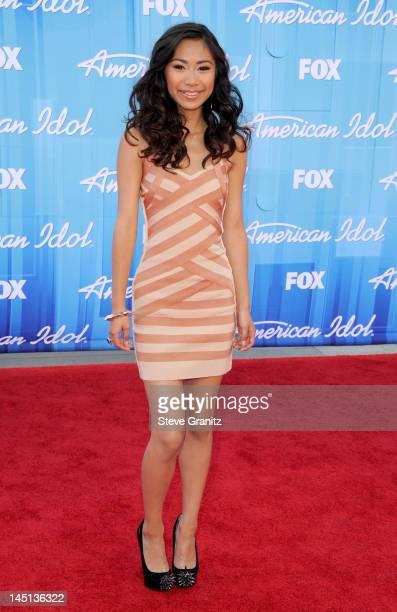 Finalist Jessica Sanchez arrives at American Idol Season 11 Grand Finale Show at Nokia Theatre LA Live on May 23 2012 in Los Angeles California