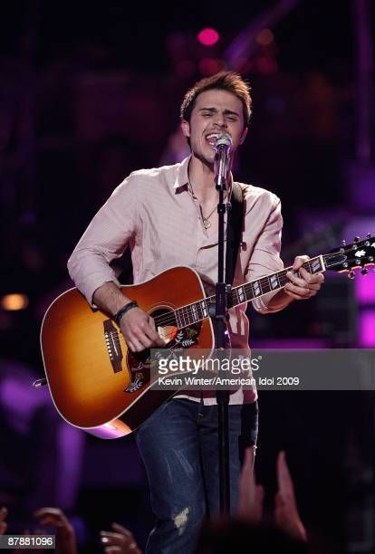 Finalist Kris Allen performs onstage during the American Idol Season 8 Grand Finale held at Nokia Theatre L.A. Live on May 20, 2009 in Los Angeles,...