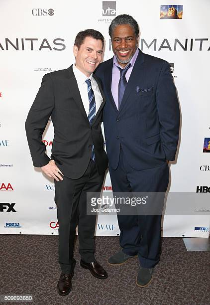 Finalist Matt Ward for 'Madam Secretary' and President of the Humanitas Awards Ali LeRoi attend the 41st Humanitas Prize Awards Ceremony at Directors...