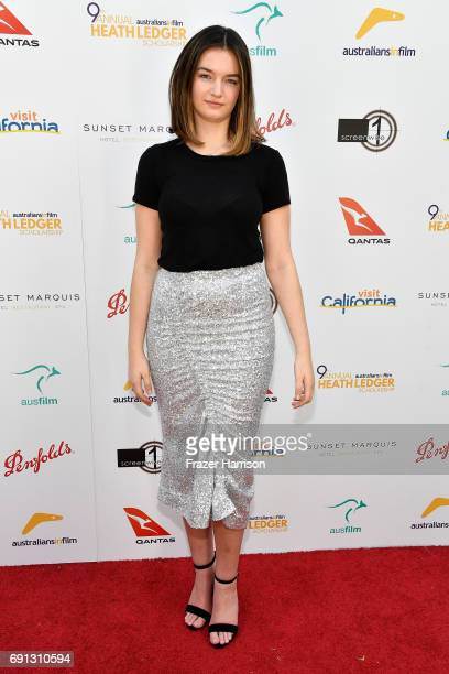 HLS finalist Mitzi Ruhlmann attends the 9th Annual Australians In Film Heath Ledger Scholarship Dinner at Sunset Marquis Hotel on June 1 2017 in West...