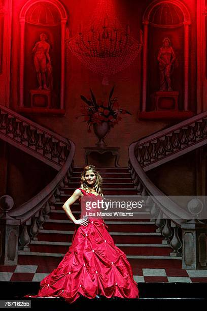 Finalist Nancy Chami competes for the title of Miss Earth Australia at the Enmore Theatre September 13 2007 in Sydney Australia Thirtyfive finalists...