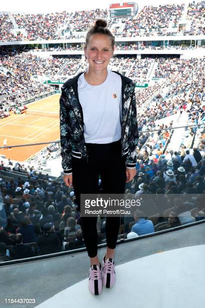 Finalist of Roland Garros 2019 Tennis player Marketa Vondrousova poses at France Televisions french chanel studio during the 2019 French Tennis Open...