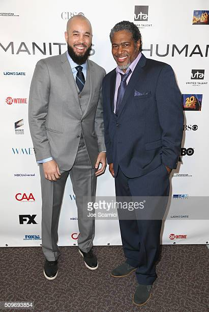 Finalist Peter Saji for 'Blackish' and President of the Humanitas Awards Ali LeRoi attend the 41st Humanitas Prize Awards Ceremony at Directors Guild...