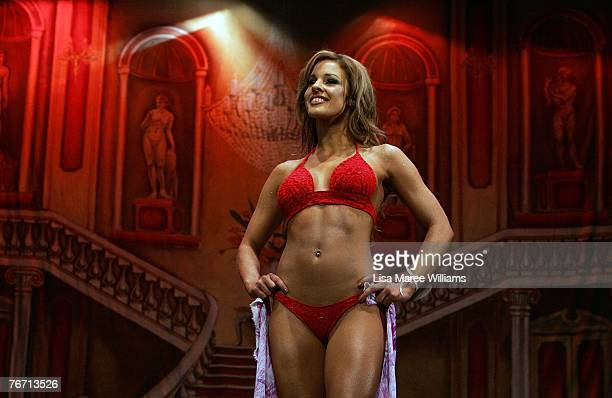 Finalist Sally Arnott competes for the title of Miss Earth Australia at the Enmore Theatre September 13 2007 in Sydney Australia Thirtyfive finalists...