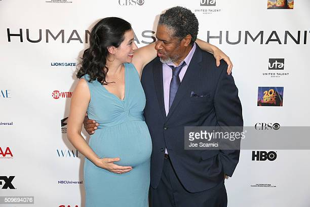 Finalist Sarah Treem for 'The Affair' and President of the Humanitas Awards Ali LeRoi attend the 41st Humanitas Prize Awards Ceremony at Directors...