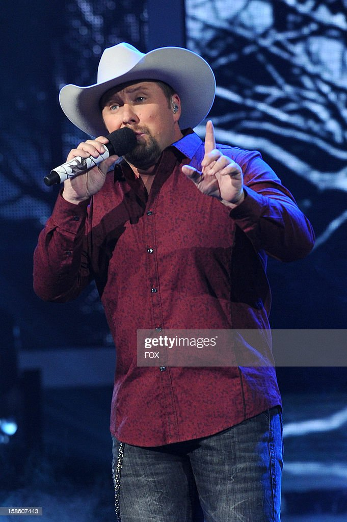 Finalist Tate Stevens performs during FOX's 'The X Factor' Season 2 Finale (8:00-9:00PM ET/PT) on FOX on December 20, 2012 in Hollywood, California.