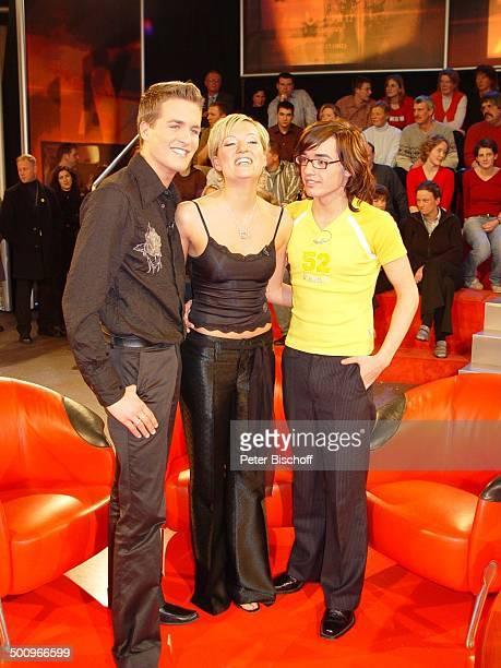 Finalisten vom RTLWettbewerb Deutschland sucht den Superstar Alexander Klaws Juliette Schoppmann und Daniel Küblböck RTLMagazin Stern TV Köln DSDS...
