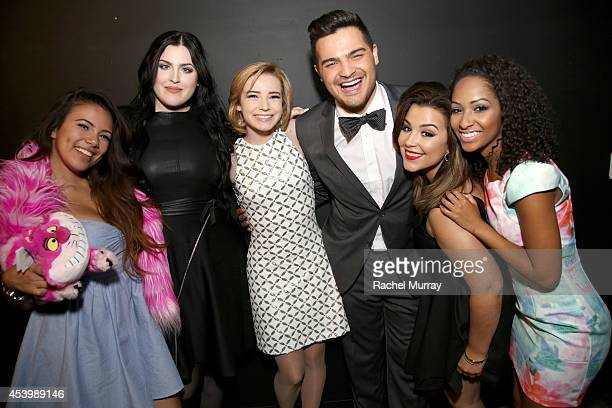 Finalists Adelaine Morin Bailey Van Der Veen Erin Timony Alex Rivera Ashley Marie and Kennedy Knight attend NYX FACE Awards 2014 Presented by NYX...