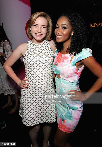 Finalists Erin Timony and Kennedy Knight attend NYX FACE Awards 2014 Presented by NYX Cosmetics at Club Nokia on August 22 2014 in Los Angeles...