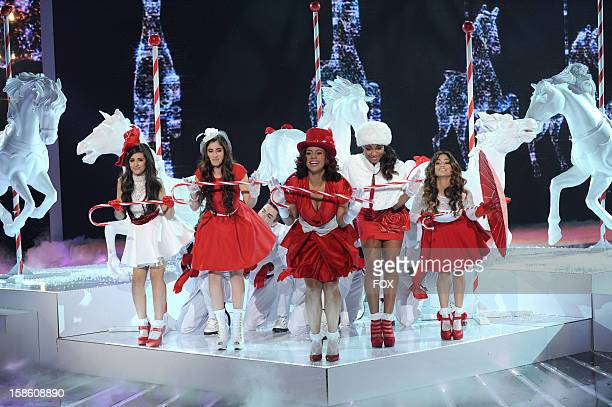 Finalists Fifth Harmony perform during FOX's 'The X Factor' Season 2 Finale on FOX on December 20 2012 in Hollywood California