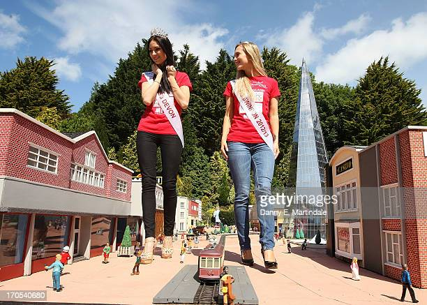 Finalists for Miss England 2013 visit Babbacombe Model Village before Sundays final on June 14 2013 in Torquay England