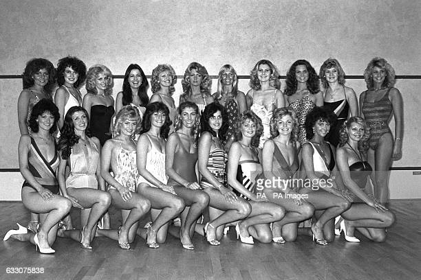 Finalists for the Miss Great Britain 1984 Bathing Beauty contest due to be held in London on January 12th Back row Maxine Turner from Stoke Wendy...
