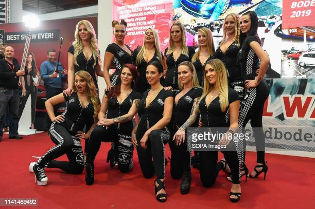 Finalists from Miss Tuning 2019 contest seen posing during Tuning World Bodensee 2019 The Tuning World Bodensee 2019 is a yearly tuning fair event...