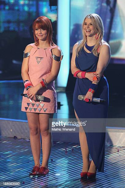 Finalists Lisa Wohlgemuth and Beatrice Egli at the 'Deutschland sucht den Superstar' Finals on May 11 2013 in Cologne Germany