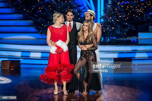 Finalists Magdalena Brzeska Erich Klann Sophia Thomalla and Massimo Sinato during the Final of 'Let's Dance Let's Christmas' TV Show on December 21...