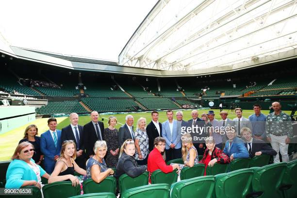 Finalists of the British Tennis Awards with LTA Chief Executive Scott Lloyd and GB Davis Cup Captain Leon Smith on Centre Court on day two of the...