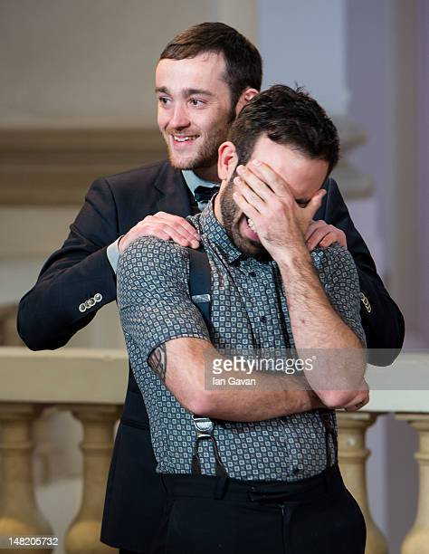 Finalists Olivier Jacobs of Belgium and Tim Philips of Australia attend the eliminations round during day 4 of the Diageo Reserve WORLD CLASS 2012...