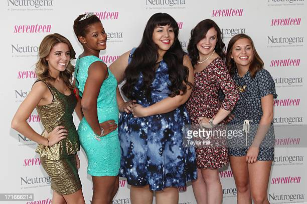 Finalists Paige Rawl KayCi Bele Ant Roman Stacey Ferreira and Paige McKenzie attend the Seventeen Magazine Luncheon Honoring Pretty Amazing Finalists...