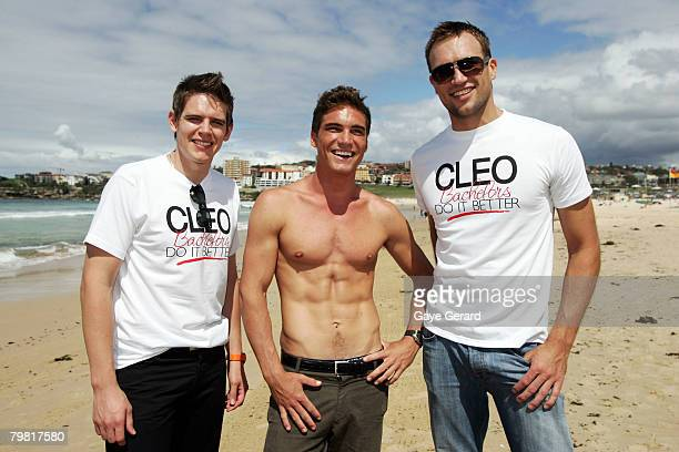Finalists Singer Carl Risley Paul Bedwell and Mark Jason pose during the Photo Call for the 21st Annual Cleo Bachelor of the Year Awards on Bondi...