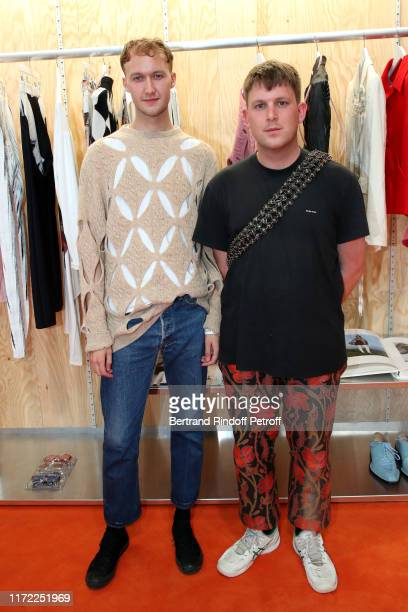 Finalists Stefan Cooke and Jake Burt attend the LVMH Prize 2019 Edition at Louis Vuitton Foundation on September 04, 2019 in Paris, France.