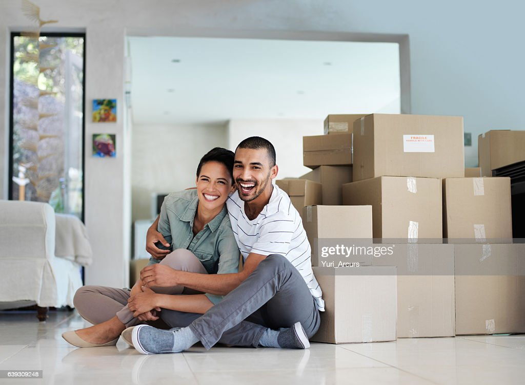 Finally a home of our own : Stock Photo