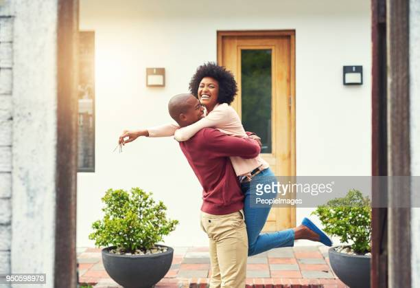 finally a home of our own! - young couple stock pictures, royalty-free photos & images