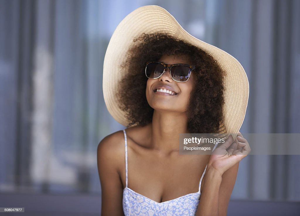 I finally get to wear this hat! : Stock Photo