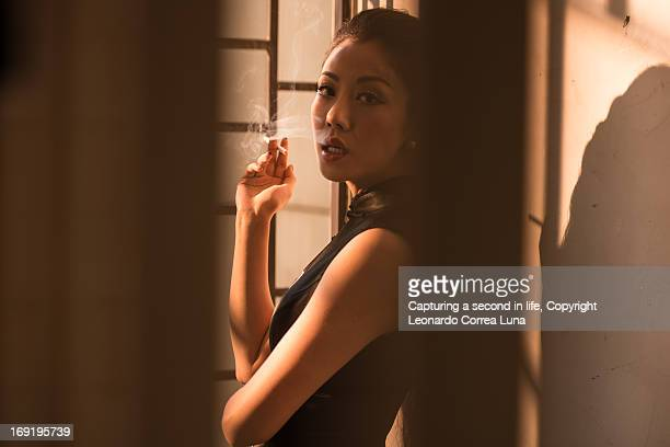 finally you came...smoking while waiting for you - beautiful women smoking cigarettes stock pictures, royalty-free photos & images
