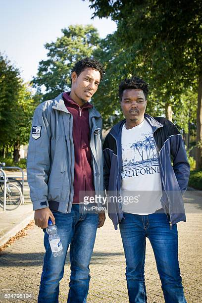 VOORSCHOTEN Finan and Drar are refugees from Eritrea On Friday night three buses with around 125 refugees arrived from the central processing center...