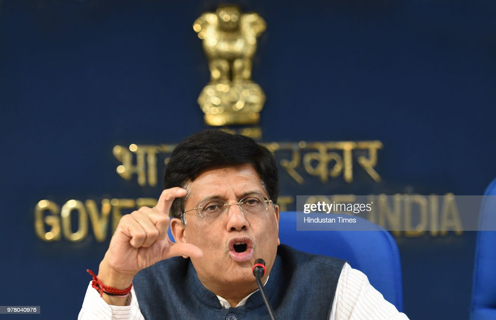 Press Conference Of Finance Minister Piyush Goyal